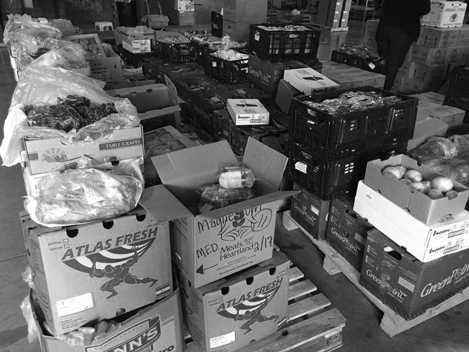 FHL Warehouse:  Pallets of Food Donation