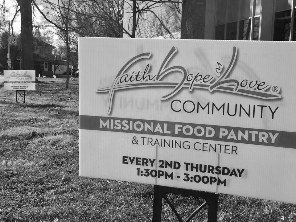 FHL Food Pantry: Signs and Progress