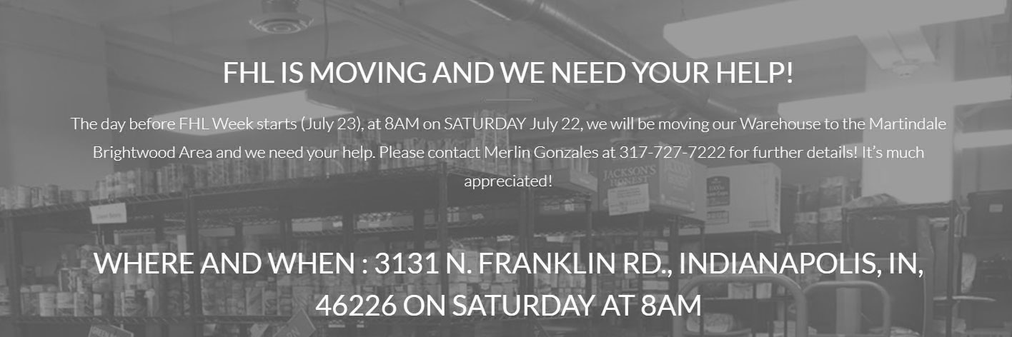 FHL Warehouse:  Help Us Move!