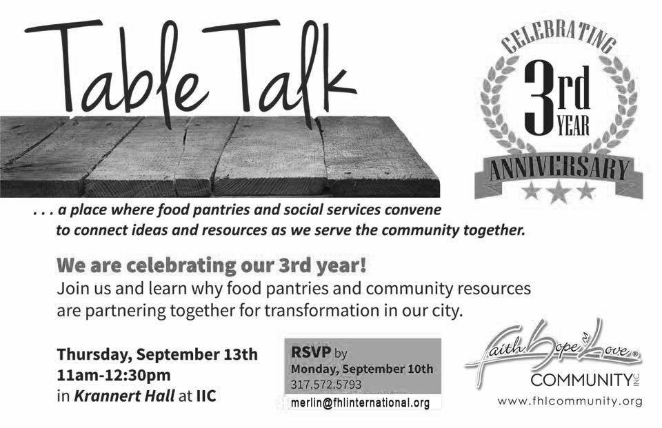 FHL's Table Talk – 3rd Year Anniversary!