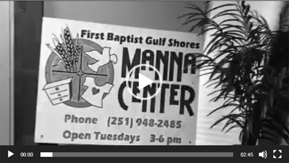 Missional Ministry visits: Manna Center, Gulf Shores, AL.