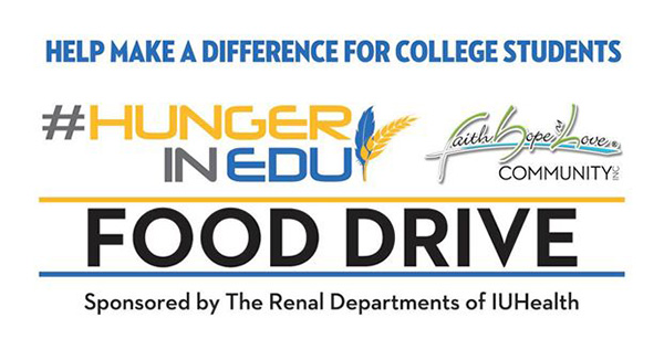 Hunger In Edu: Food Drive – Wednesday April 1, 2020