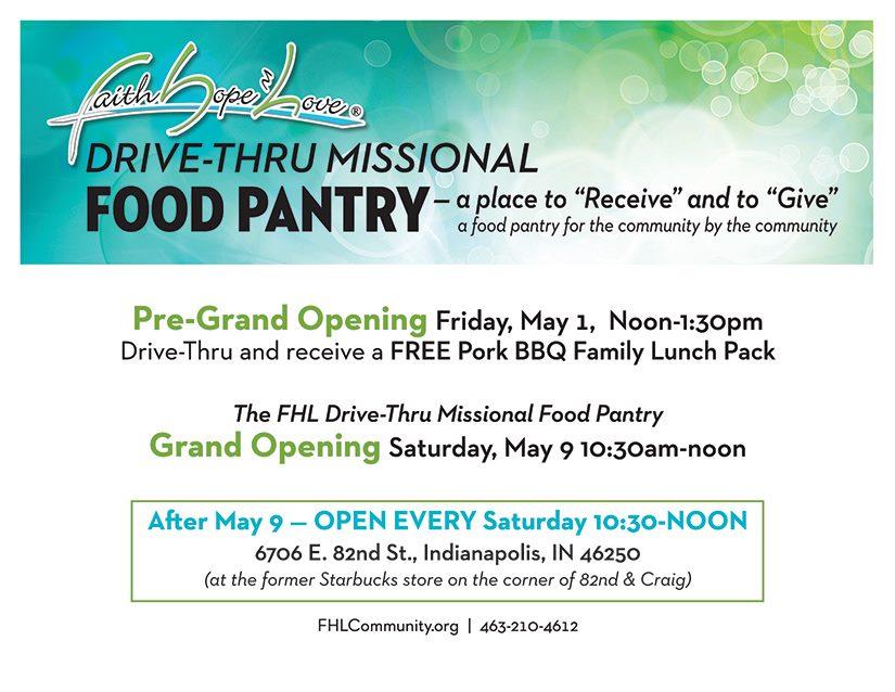 FHL MFP Drive Thru Grand Opening – May 9, 2020