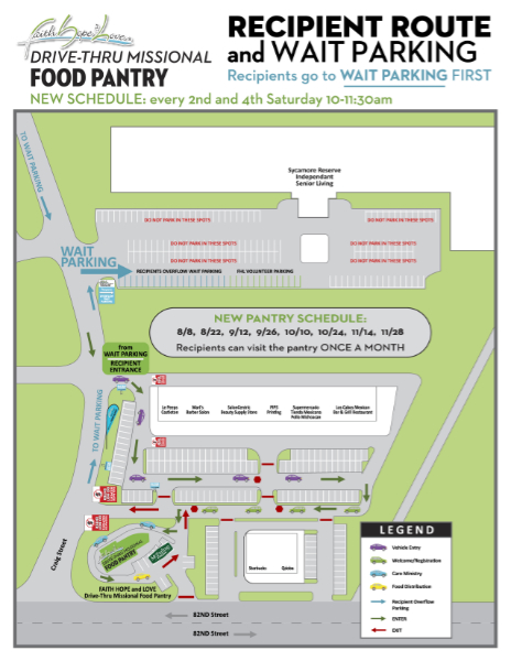 New Schedule for MFP Drive-Thru Food Pantry!